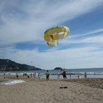 Parachute à la plage