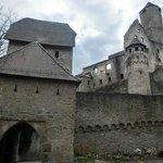 die Burg von der Rückseite aus gesehen
