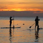 Paddle Boarders at Sunset (West Bay)