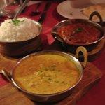 Chicken Tikka Masala and a coconut vegetarian dish