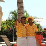 Gustavo and Jose our awesome pool waiters