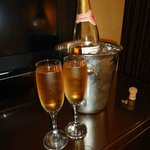 Complimentary Champagne for our Anniversary