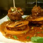 Lamb Meat balls over butternut squash