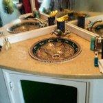 Beautiful sink in bathroom
