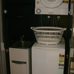 Laundry facilities n a one bedroom apartment