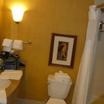 It is a nice bathroom