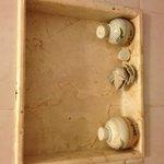 El porta condicionar rompido por accidente