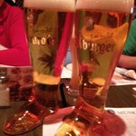 2 liters of Beer in a glass boot! Awesome!