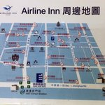 Map of area around Airline Inn