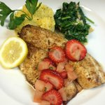 Spicy Tilapia with Fruit Salsa and Kale
