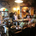 Kitchen with friendly service