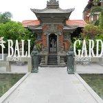 Front entrance to Bali Garden Resort Hotel
