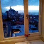 Aya Sofija from the breakfast restaurant's window.