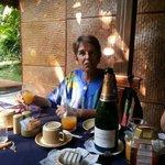 Champagne breakfast birthday treat