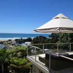 Awesome view on Waihi Beach (from the terrace where breakfast is served)
