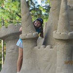 Sand castle in summerland