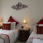 """Two single beds in """"Magnolia"""" cottage 3rd bedroom"""