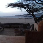 evening view of beach from blue moon bar