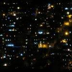 Favela at night