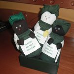 Do not disturb- love the dolls can be purchased at reception.