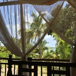 View from the Zanzibari bed on the porch of the bungalows - could lie here all day!