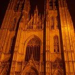cattedrale saint michel et saint gudule - esterno - notte