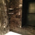 Marble shower with tub