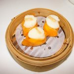 Steamed Scallops dumplings with Conpoy