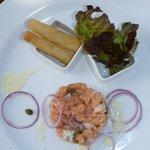 Beachrestaurant:Vorspeise Lachstartar..lecker