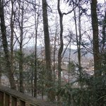 View from log cabin towards Bryson City