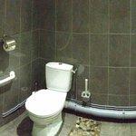 les toilettes d'une propreté irréprochable