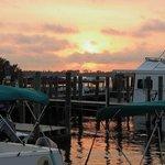 Sunset Over Bear Point Marina