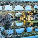Pont du Gard.  No snow!