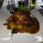 Rosemary Roast Chicken for lunch at the Royal Bay Beach Club