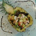 ananas con insalata esotica