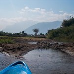 Chiang Dao mountain views from the kayak
