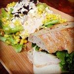 border salad and 900 signature sandwich
