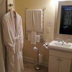 Bathroom with heated floors and heated towel rack