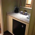 nice mini fridge area
