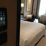 controles de iluminação e ar-condicionado