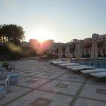 Sun Set by the pool bar