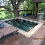 plunge pool on deck of our room