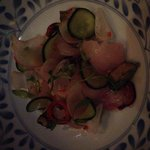 Ceviche...good but the cuttlefish is crazy good