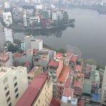 Vista de Hanói do hotel
