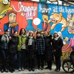 Posing in front of some street art in Mitte