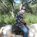 Hubby horseback riding