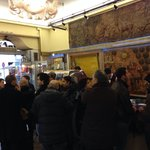 Long line for tasty coffee ��