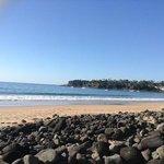 playa saliendo del hotel