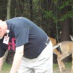 Honest Phil feeding the deer