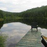 le lac rempli de truites !
